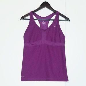 Nike Purple Dri-Fit Sports Tank